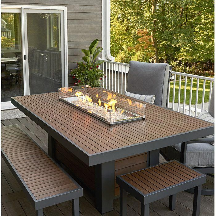 Kenwood Composite Propane Natural Gas Fire Pit Table Natural Gas Fire Pit Fire Pit Table Propane Fire Pit Table
