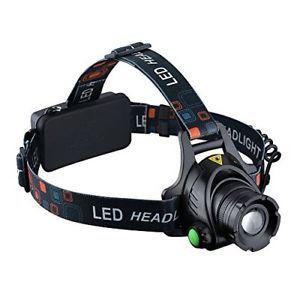 a topelek linterna frontal cabeza led con baterias 3 modo de luz recargable y d