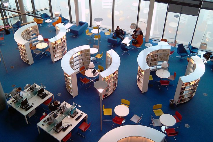 /30 Round Steel bibliotheeksysteem voor uniek bibliotheekontwerp