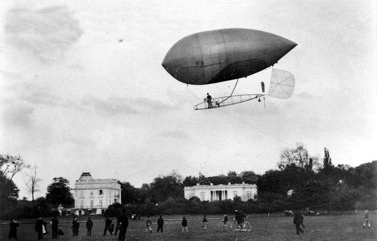 Santos-Dumont voava com frequência sobre Paris com o N-9