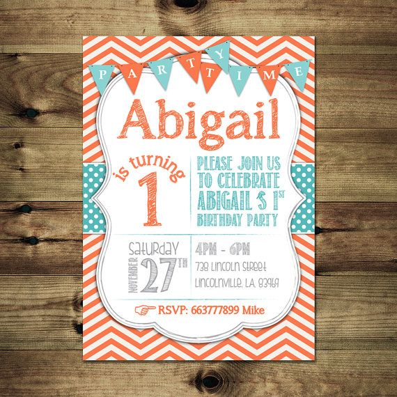 1st Birthday Invitation Bday_inv_009 by PapierMignonID on Etsy