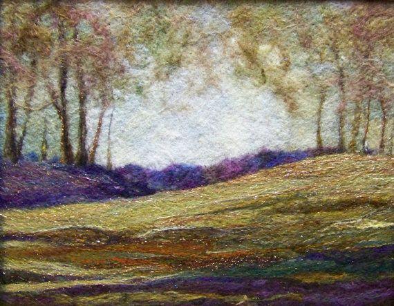 Fiber art...wool painting - all handmade