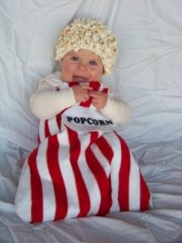 Cutest baby costume ever! Actually, that hat could almost be considered lace and worn year round!