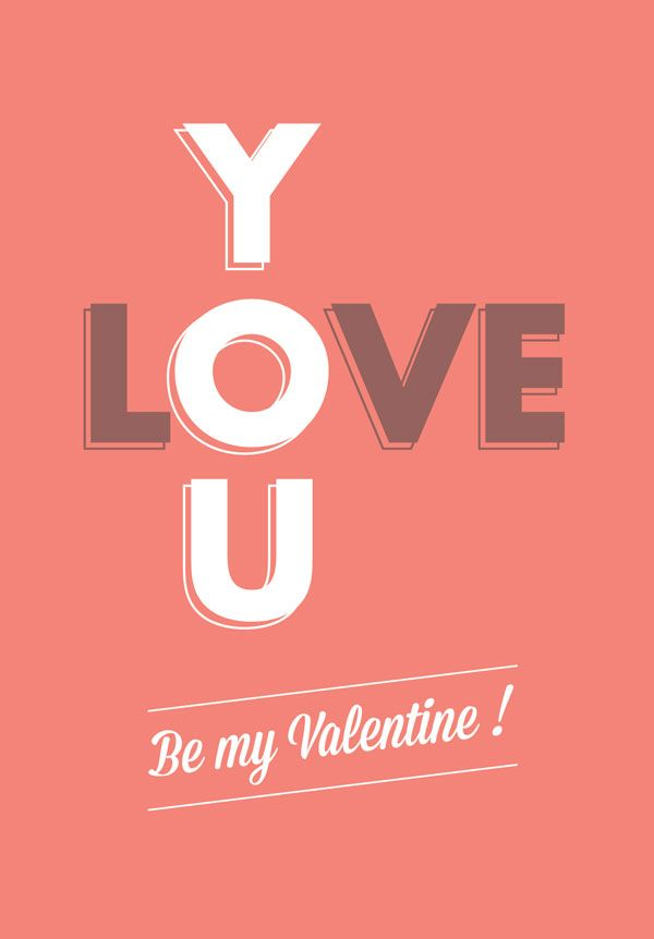 69 best Valentine\'s Day images on Pinterest | Typographic design ...