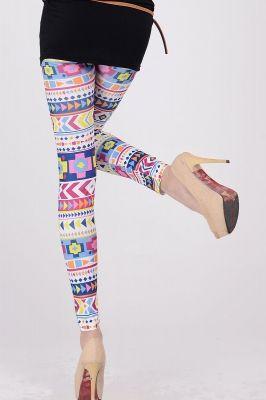Colorful Geometric World Legging | GlobalMarket - Clothing on ArtFire