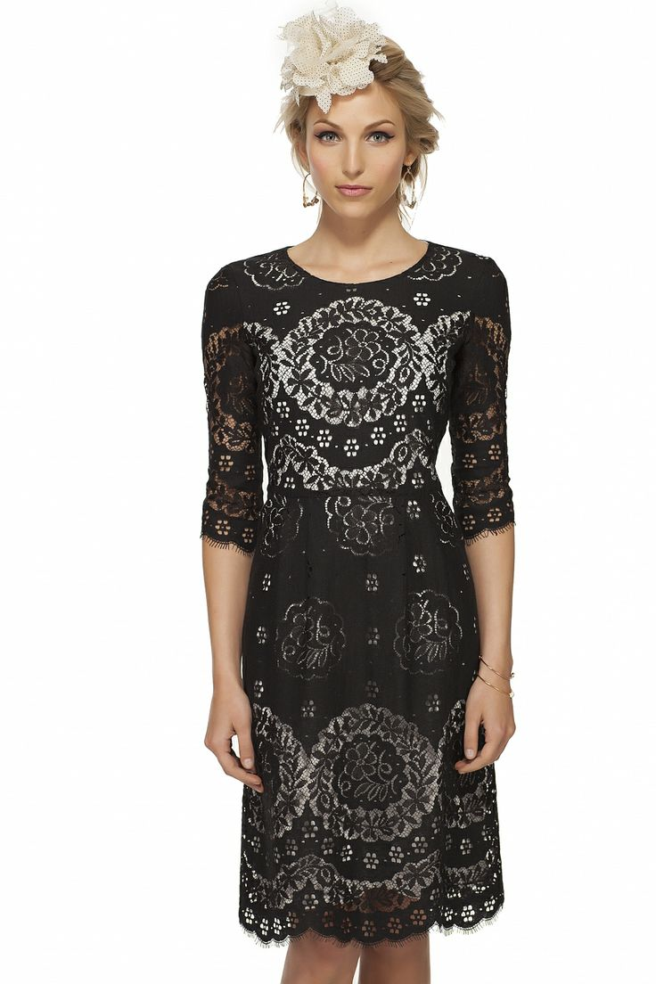 Three quarter sleeve lace dress - Sales - Women | TRISTAN