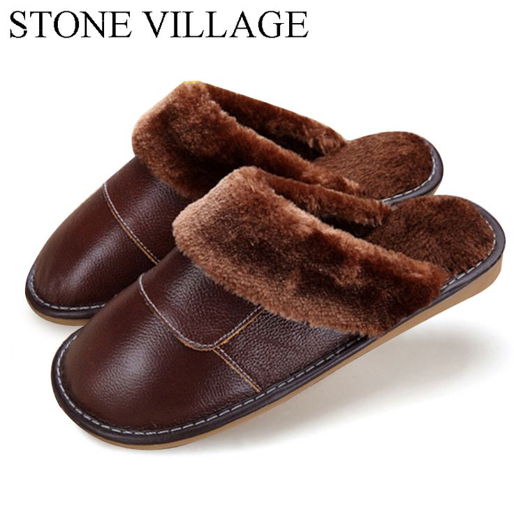 6 Colors 2015 New Genuine Leather Home Slippers  High Quality Women Men Slippers  Plush Warm Indoor  Shoes Men  Women Size 35-44 #CLICK! #clothing, #shoes, #jewelry, #women, #men, #hats