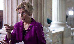 Elizabeth Warren speaks in the Senate chamber in Washington DC Wednesday.