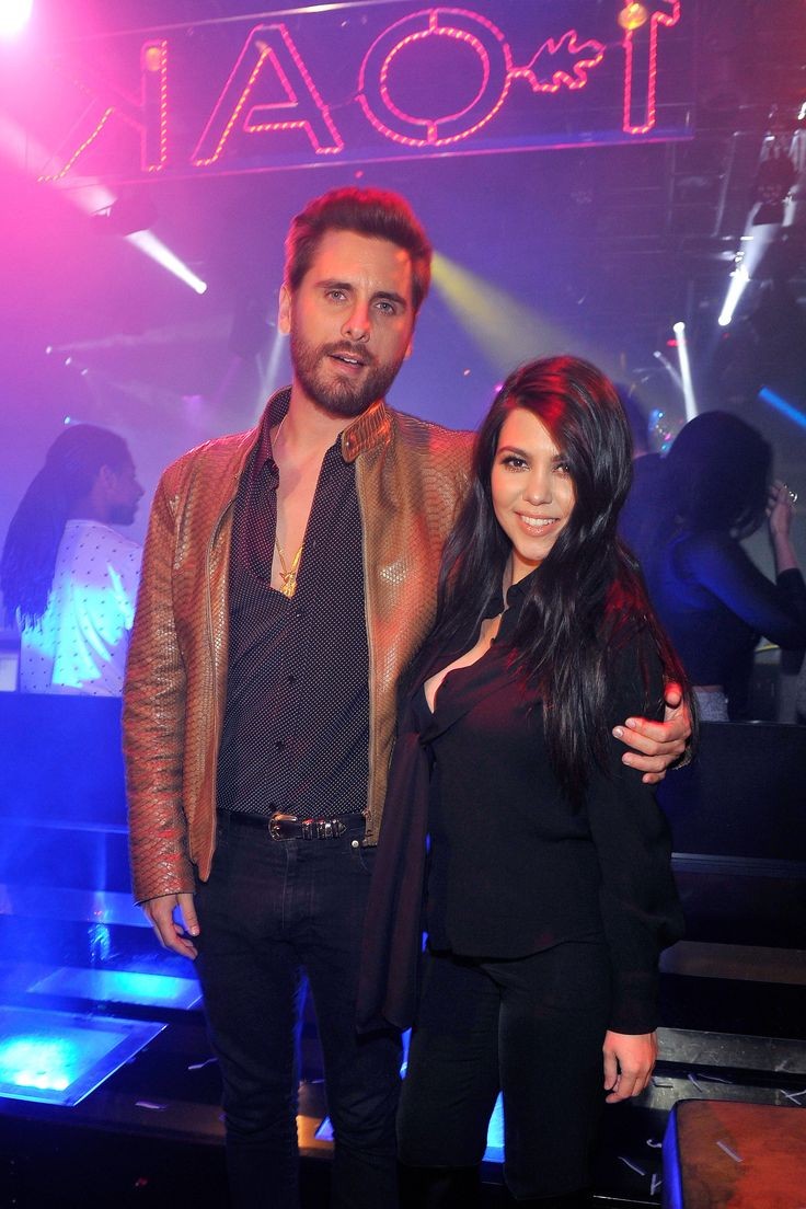 Scott Disick and Kourtney Kardashian appear at 1 OAK Nightclub at The Mirage Hotel & Casino on Feb. 21, 2015, in Las Vegas.   - Cosmopolitan.com