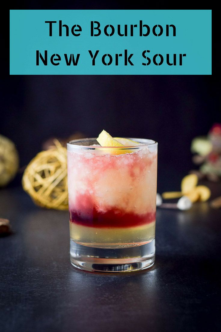 The Bourbon New York Sour.  So delicious and super easy to make.  Bourbon, lemon juice, simple syrup and wine!  http://ddel.co/bnysckl
