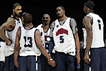 USA men crush Olympic basketball points record with 156 and beat Nigeria by 83! Carmelo Anthony has 37 points in about 14 minutes of play. All I'm saying is that no badminton was played on this court :-)