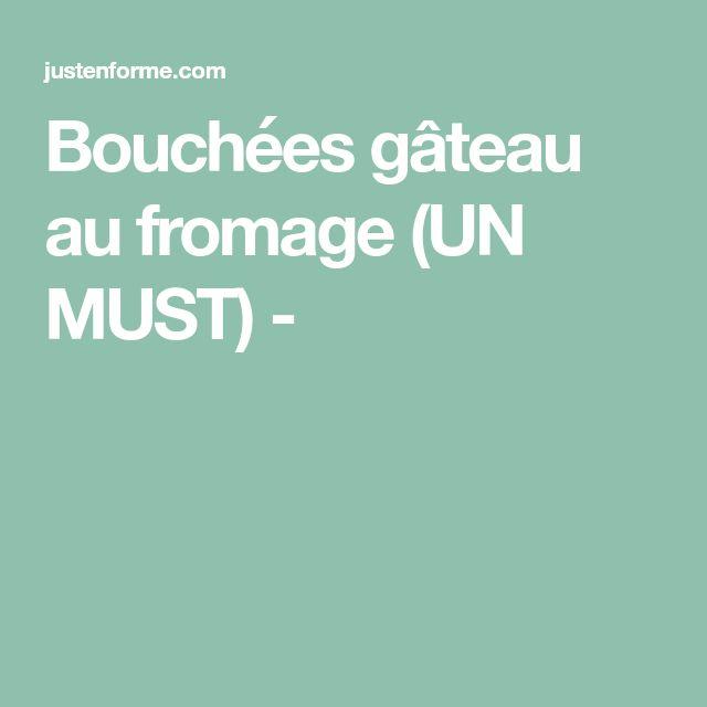 Bouchées gâteau au fromage (UN MUST) -