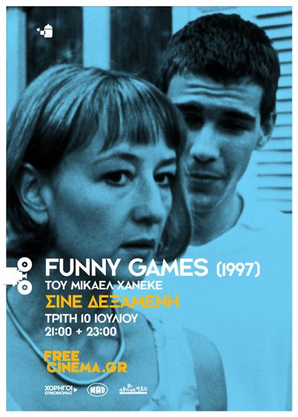 Suddenly this summer poster #9 of 10  FUNNY GAMES (1997)  by the comeback studio: Games 1997, Summer Poster, Greatest Comebacks, Comeback Studio, 10 Funny, Movie Poster, Funnies, Funny Games, Funny Comebacks