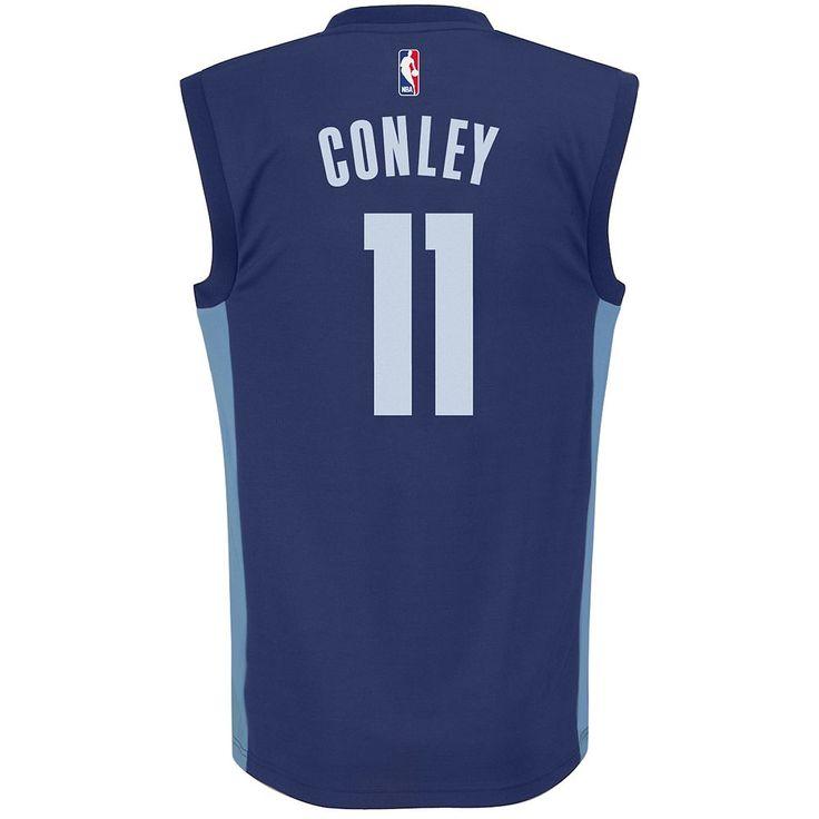 Adidas Men's Memphis Grizzlies Mike Conley Jr. Replica Jersey, Size: Medium, Blue (Navy)