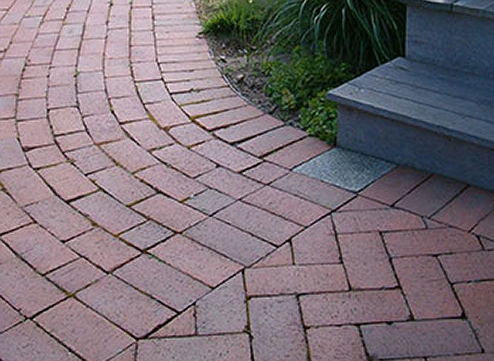 A Well Designed Curve In A Paver Pathway. Pine Hall Brick.