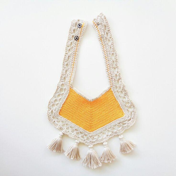 #Babero #boho #ganchillo #bibs #crochet #baby #bebe
