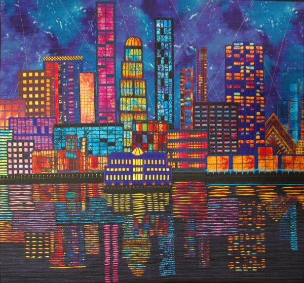 Harbour Lights by Karlyn Hanchard 112 x 102cm