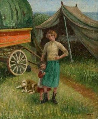 The Gypsy Camp by Marjorie Bruford