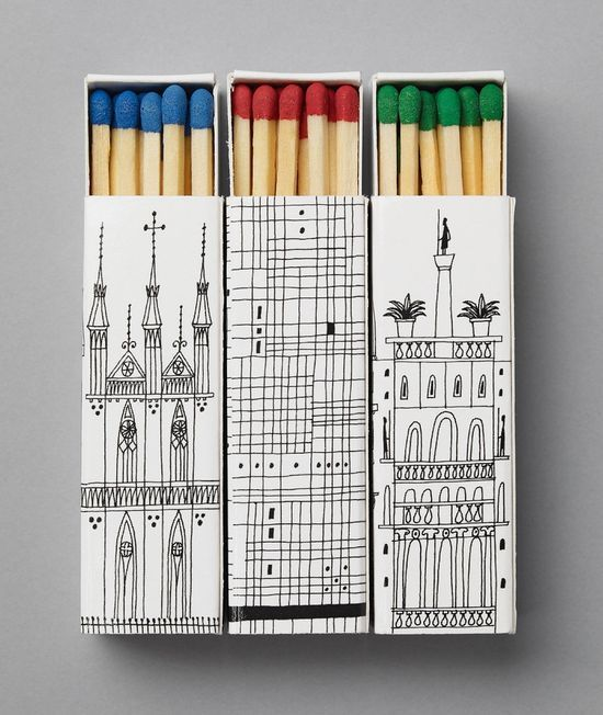 matchboxes.