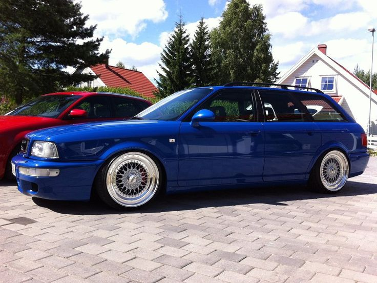 """Audi RS2 Avant Wagon on 18"""" Silver BBS RS"""