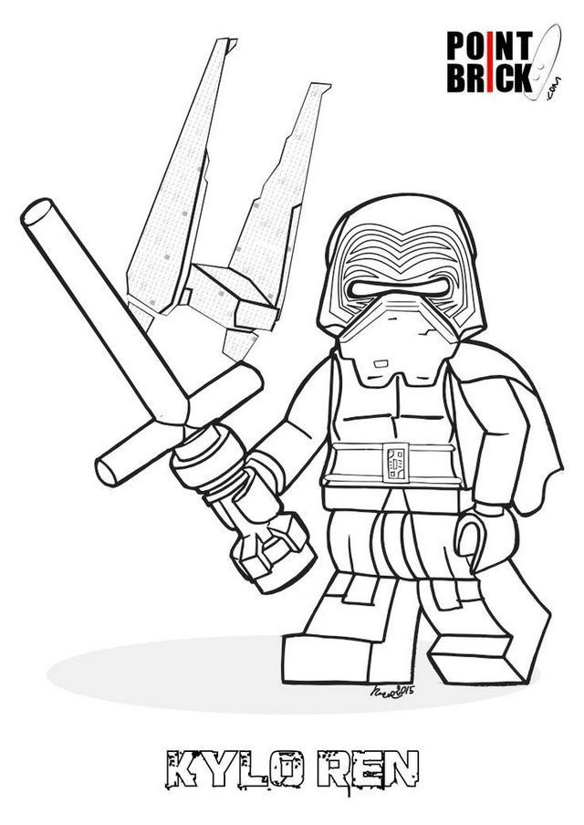 Lego Kylo Ren Coloring Sheet For Star Wars Fans Star Wars Colors