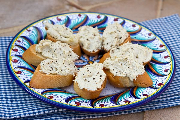 Baccala Mantecato - A Venetian specialty of whipped dried salted cod.