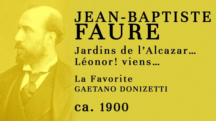 Jean-Baptiste Faure at age 70 SINGING Léonor! viens (La favorite) - Reco...