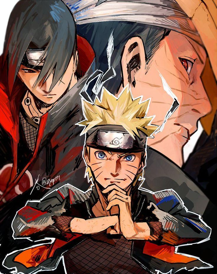 Itachi, Obito und Naruto