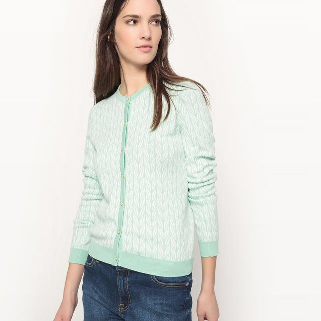 Long-Sleeved Cotton Cardigan