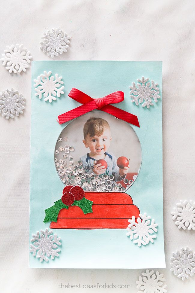 Snow Globe Template Card The Best Ideas For Kids Christmas Card Crafts Christmas Cards To Make Diy Christmas Cards