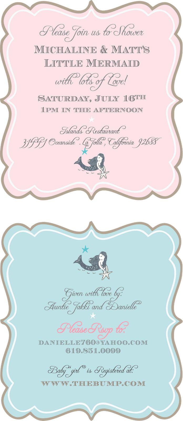 dani's details: Mermaid Baby Shower
