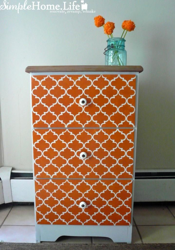 Furniture Redo Ideas In Orange Furniture Revamp Love The Orange