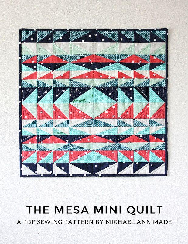 Mesa Mini Quilt - FREE PDF Pattern