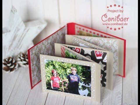 { Conibaers creative desk } Constanzes kreatives Blog: Anleitung für´s Weihnachts-Minialbum