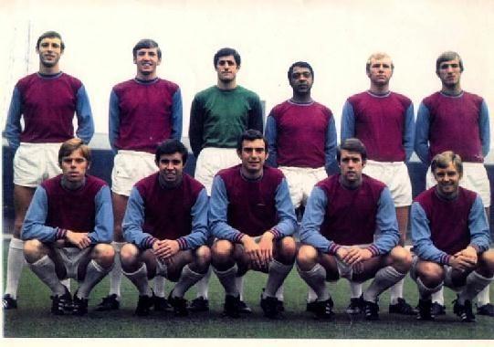 West Ham United 1970-71 Back row: Alan Stephenson, Martin Peters, Bobby Ferguson, John Charles, Bobby Moore, Billy Bonds.Front row: Harry Redknapp, Ronnie Boyce, Trevor Brooking, Geoff Hurst, John Sissons.