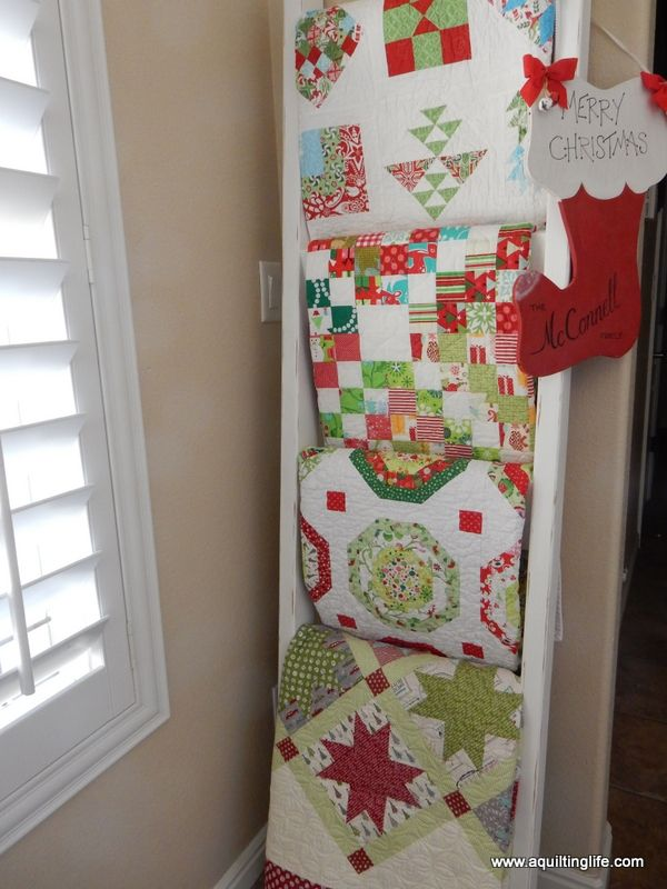 Christmas Quilt Home Tour Part 1 | A Quilting Life - a quilt blog Christmas quilts and decor with tips for decorating.