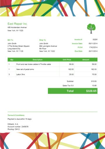 12 best Invoices images on Pinterest | Plantilla de la factura ...
