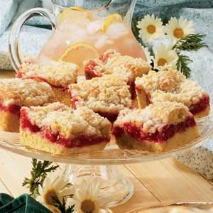 Cherry Rhubarb Coffee Cake...this is the very best coffee cake recipe in the world!!!  The topping is like shortbread, the filling is amazing!  Wonderful recipe. A favourite of mine for years now.