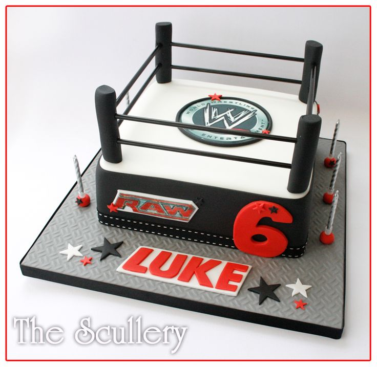 Great cake idea for your little wrestler's birthday party A Wrestling Ring Cake of course!
