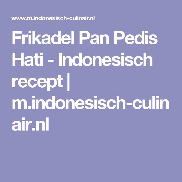 Frikadel Pan Pedis Hati - Indonesisch recept | m.indonesisch-culinair.nl