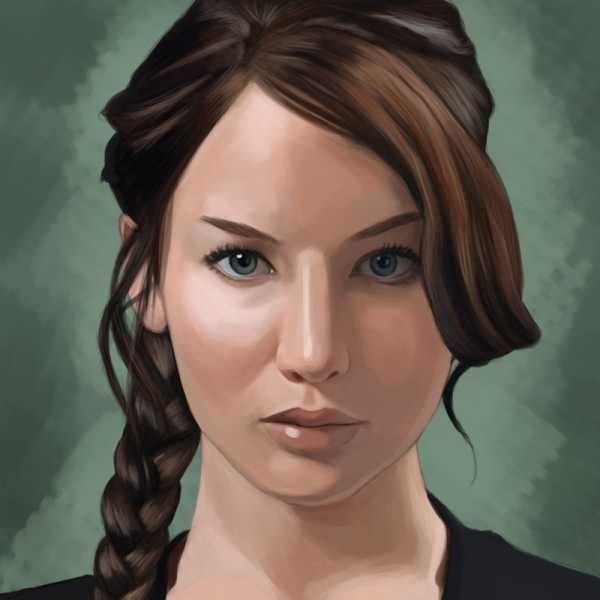 540 best graphic design inspirations images on pinterest graphic painting of jennifer lawrence as katniss everdeen voltagebd Image collections