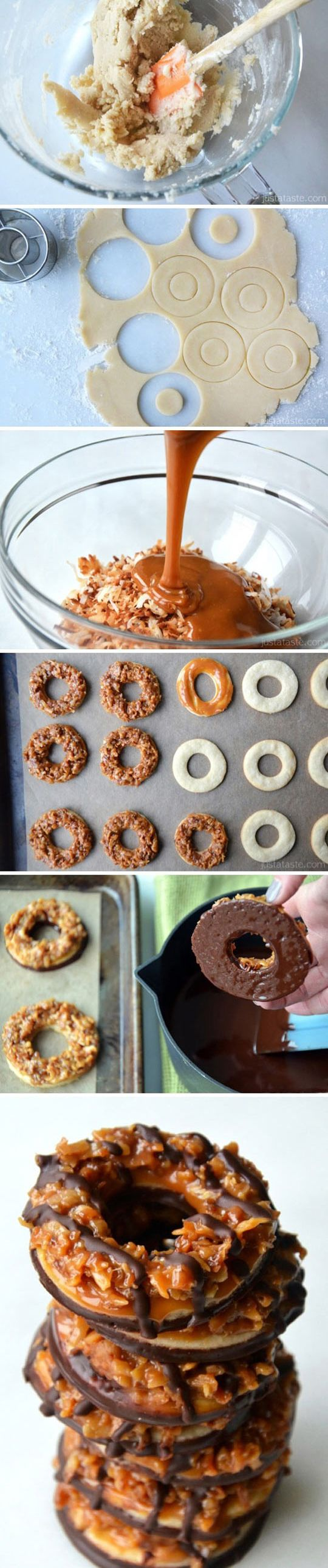 Házi készítésű csokis-karamellás keksz