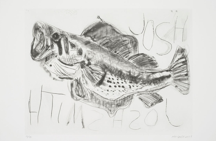 Josh Smith, 'Big Fish'  Edition of 75 Aquatint with spit bite and dry point on Hahnemuhle 300 gsm 56.5 x 78 cm (22.2 x 30.7 in)