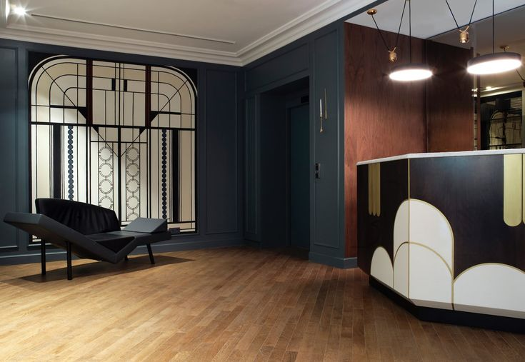 Art Deco Lobby and Reception in Paris, France by Chzon