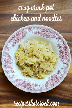 Easy Crock Pot Chicken and Noodles- Great recipe that does all the work for you! #CrockPot