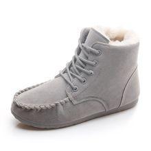 Sougen Avustralya Çizmeler Kadınlar Kış Çizmeler Sonbahar 2016 Ayakkabı Kadın Ayak Bileği Kar Su Geçirmez Bot Siyah Deri Kayma Marka Kürk(China (Mainland))
