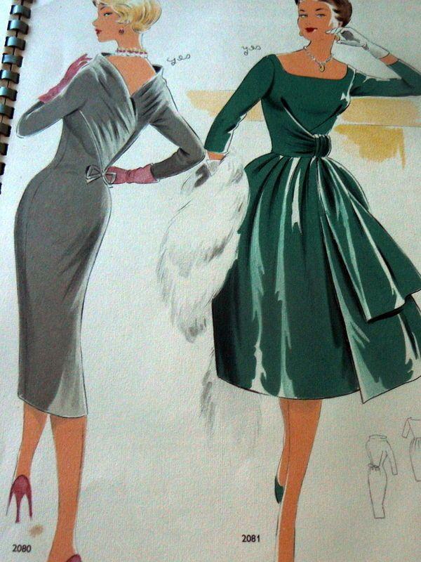 style vintage dress patterns on ebay