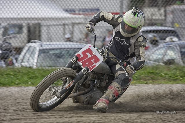 Vintage Flat Track Racing Motorcycles | Flat Track Racing on the cinders. Saturday play, not for the faint of ...