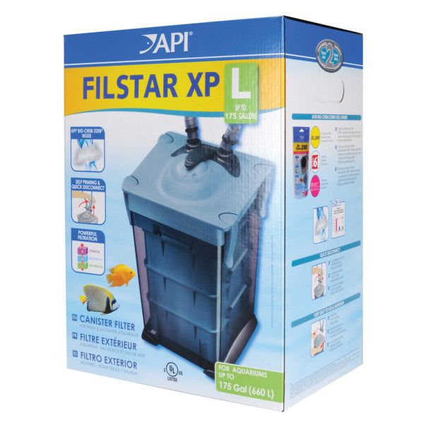 Api filstar xp aquarium canister filter filters for Petsmart fish filters