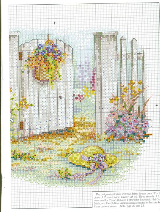 """Inviting Gateway"" cross stitch pattern by Paula Vaughan. Found on gallery.ru"
